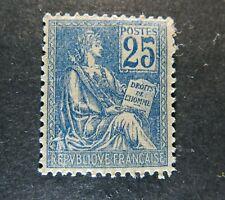 France 1900  blue 25 centimes Sc# 119