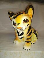 """Vintage Ceramic Tiger Shafford Japan MCM Mid Century Modern Porcelain 6.5"""""""