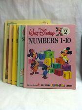 Five Vintage Walt Disney and Sesame Street Books