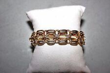Alfani Gold Tone Wide Layered Link Bracelet NWT $38