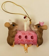Charming Tails - You Go Curl Friend - Christmas Ornament