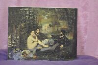 ANCIEN PUZZLE REPRODUCTION TABLEAU EDOUARD MANET PAS HUILE SUR TOILE