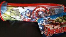 PENCIL CASE MARVEL COMIC'S AVENGERS CHARACTER CYLINDER ZIPPED 20CMS