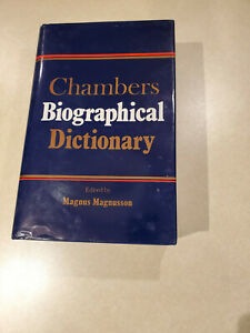 Chambers Biographical Dictionary 5th Edition edited by Magnus Magnusson 1990 ed.