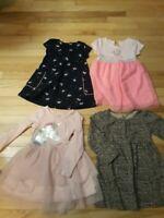 Lot Of 4 Toddler Girl Dresses Size 3t