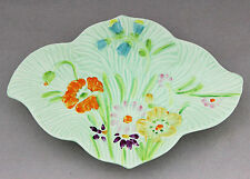 Vintage Plate BESWICK Small Green Floral Pin Trinket Dish 40s 884-2 Art Deco