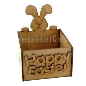 Easter Bunny Rabbit Gift Hamper Chocolate Egg Treat Box Holds Chocolate & Sweets