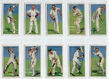Complete Set of 50 Vintage Cricket Cards from 1930 England Australia
