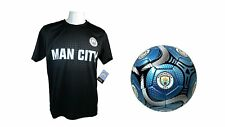 Manchester City F.C. Official Soccer Jersey & Size 5 Ball -19 Medium