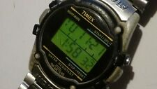 Mens Vintage Indiglo Timex Digital Beater watch 100m w/ bracelet new batt