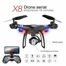 X8 Wifi RC FPV Drone With HD Camera Headless Mode Altitude Hold RTF Quadcopter