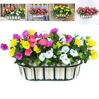 Artificial Hanging Basket Fake Silk Morning Glory Flower Vine Wedding Home Decor