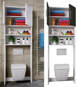 VCM WC Überbauschrank Toilette Schrank Badschrank Badregal Badmöbel Hochschrank