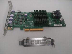 SUPERMICRO AOC-S3008L-L8I w/ 2 CABLES+BRACKETS 12Gb/ LSI 9300-8i ZFS PC TRUENAS