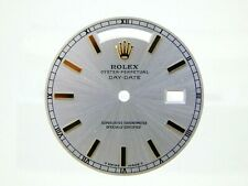 Rolex Men's Day-Date Yellow Gold Silver Color Luminous Stick Marker Dial