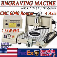 New Listing15kw 4 Axis Usb Vfd Cnc 6040 Router Milling Machine Engraver Engraving Cutter
