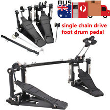 Drum Pedal Double Bass Dual Foot Kick Pedal Percussion Set Single Chain Drive AU
