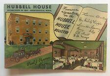 MN Mantorville, Minnesota 1954 postcard HUBBELL HOUSE  hotel & restaurant