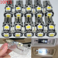 10x T10 5W Led Canbus Error Free 168 194 W5W 5 SMD Car Side Wedge White light