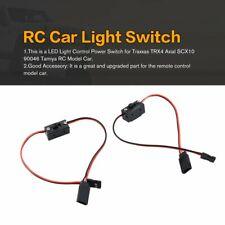 2Pcs LED Light Control Power Switch for Traxxas HSP Redcat RC4WD RC Model Car LA