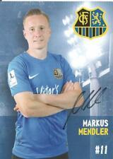 Markus Mendler - 1. FC Saarbrücken - Saison 2017/2018 - Autogrammkarte