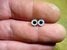 a pair vintage solid Glass Eyes size 6 mm teady bear taxidermy age 1910 A 124