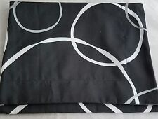 TWIN SIZE Black Circle pillow SHAM & solid Gray bed SKIRT set new Mainstays