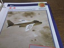 Faszination 16 5 Bell X 5 experimenteller Strahljäger Schwenkflügel USA
