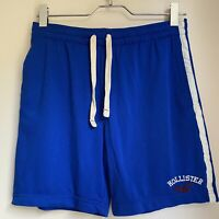 BLUE SPORT SHORTS M MENS HOLLISTER SUMMER SPORT GOLF FOOTBALL GYM TOWIE CASUAL