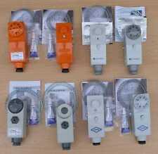 Anlegethermostate mit Außenverstellung und  Innenverstellung verschiedene Sorten