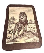 San Marcos El Original Blanket Lion 92�x 63� Vintage