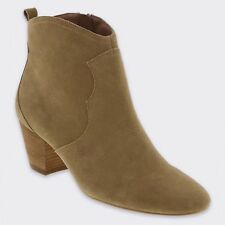 TWIGGY at M&S Real SUEDE Western Style ANKLE BOOTS ~ Size 3 ~ SAND
