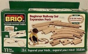 Brio Track Beginner Railway Set Expansion Pack  33339 NIB Retired