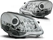 LED HEADLIGHTS LPVWA5 VW POLO 9N3 9A4 2005 2006 2007 2008 2009 CHROME