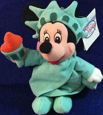 DISNEY Minnie Mouse 1990s STATUE of LIBERTY PLUSH Bean Bag Toy DS Store MWMT