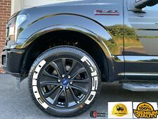 """PERMANENT Tire Lettering FORD F150 Stickers Letter Wheel 17""""-26"""" Decal 1.37"""""""