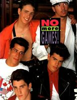 NEW KIDS ON THE BLOCK 1990 NO MORE GAMES TOUR CONCERT PROGRAM BOOK / EX 2 NMT