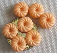 1:12 Scale 7 Loose Orange Macaroons Tumdee Dolls House Food Cake Accessory PL128