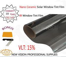 NEW VISION VLT15% IR Reduction 90% 152cmX30m IR Window Tint Film Nano Ceramic