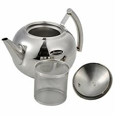 Tea Pot, Newness Polished Stainless Steel Teapot with Lid, Tea Kettle for Home,
