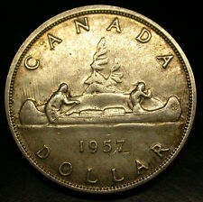 1957 Canada SILVER DOLLAR GORGEOUS LARGE SILVER Dollar! HIGH GRADE GEM