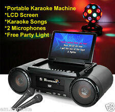 MR ENTERTAINER PARTY BOX KARAOKE MACHINE WITH BUILT IN LCD SCREEN