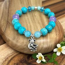 Koala Souvenir Bracelet, Turquoise Magnesite Gemstones, Australian Made Gift