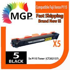 5x FUJI XEROX DocuPrint DPP115 P115B P115 CT202137 Compatible TONER-M115FW