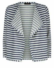 BNWT JAEGER STRIPED BRETON STYLE TEXTURED CARDIGAN JACKET SIZE M 10 -12  RRP £80