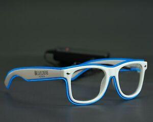Belvedere Vodka Partybrille LED Brille blauer Rahmen Neu OVP keine Sonnenbrille