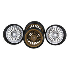 RC 1:10 Drift Car 12mm Silver 20 claw wheels and Tires Pack of 4