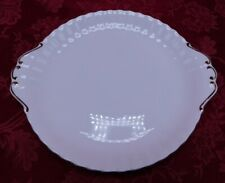 Royal Albert Val D'Or bone china  white tray w gold trim cake plate or Tea Tray