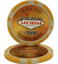 100pcs Las Vegas Laser Casino Clay Poker Chips $1000