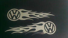 VW chrome flames X 2 pair polo golf beetle bus